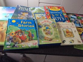 Selection of children's hard back and other book