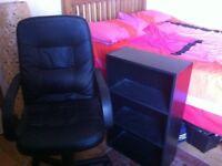 Black office furniture