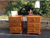 Two solid pine bedside cabinets, vintage shabby chic project?