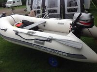 Quicksilver airdeck dinghy 310 long and Mariner 4 stroke engine
