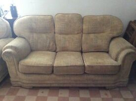 three seater sofa and two armchairs - for quick sale