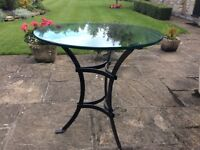 Glass top patio/occasional table