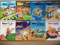 8 hardback Asterix books