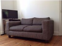 Habitat herringbone pattern two seat sofa in excellent condition