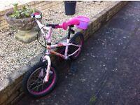 Girls Bike with Helmet and basket accessories