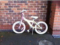 Raleigh Kool Miss 16in Girls Children Kids Bike Pink Lemon