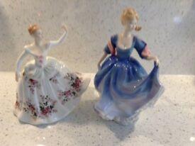2 Doulton figures (Elizabeth and Shirley)