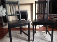 Black Ash Dining Chairs.