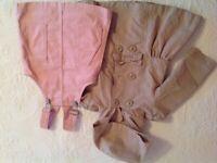 Raincoat & pink pinafore dress 18 - 24 months