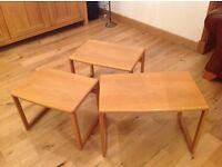 John Lewis oak nest of tables lovely condition