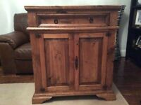 Mexican wooden console unit/ sideboard