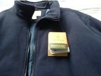 Gents warm winter jacket lined navy blue regatta fleece
