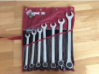 Sidchrome 7 piece metric combination spanner set - brand new. 21, 22, 24, 27, 30, 32, 36mm