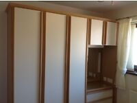 bedroom Wardrobes single and Double with bedside cabinet and vanity unit
