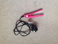 Cerise Pink Ceramic Mini Hair Straightener