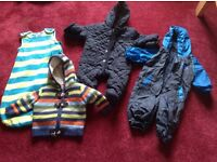 Boys baby clothes and sleeping bag