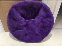 Children's plush purple foldable chair