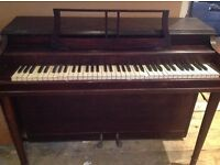 Lovely small piano - FREE TO GOOD HOME! - Must collect with suitable vehicle + extra pair of hands!