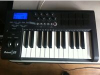 M Audio Axiom 25 Midi Controller with Pads for sale