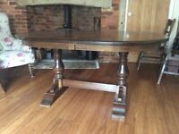Old Charm light oak dinning table seats 8