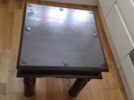 Indian Square Table £30 Size 45cm x 45cm (17.7x 17.7 inches)