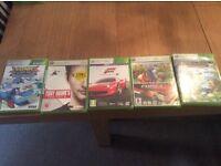 5 X Box 360 Games £10