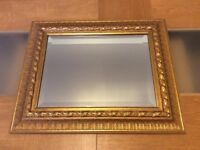 Lovely Gold Ornate Mirror. Originally purchased John Lewis. size 22x18 inch.