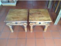 2 Matching Coffee/Bedside Tables. Solid Wood. Good condition £50