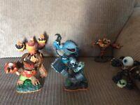 Skylanders figures.