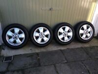 Used, MINI ALLOY WHEELS & TYRES for sale  Strathaven, South Lanarkshire
