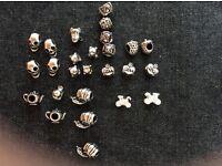 Selection of pandora style beads