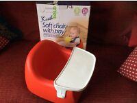 Karibu red baby seat & tray