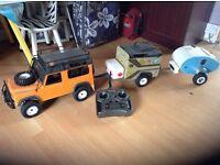 RC rc4wd D90 Landrover rtr vgc plus 2 trailers swap ??