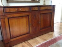 Cherrywood Sideboard from 'Shapes', 3 drawers and 2 doors with shelves