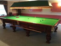 Magnificent Burroughs and Watts full size snooker table