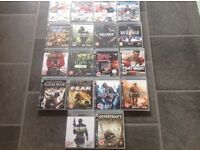Play station 3 games - 18 Games in Total
