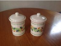 2 Ceramic Tea/Coffee Storage Jars.