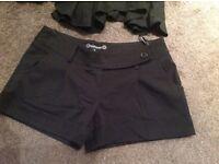 Black skirt and black smart shorts (Size 12)