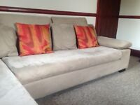 Corner Sofa Brown