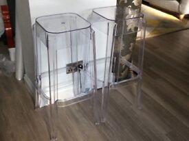 2 modern high/bar stools