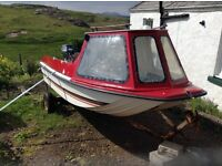 13 ft Fibreglass boat, trailer and 20hp outboard