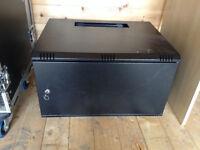 """6U 19"""" Black Steel Wall Mount Rack Enclosure - 325x550x450mm - RR-W1-6G"""