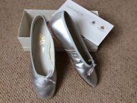 Women's Silver 'Ballet Pump' shoes size 7/40