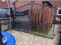 Galvenized steel heavy duty steel gates