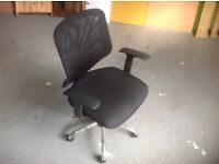 Two black office chair