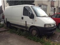 Peugeot boxer 05 reg van spares or repair very good engine and box but just scruffy needs tidying