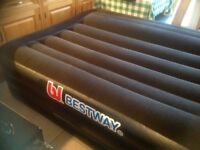 Inflatable double bed.