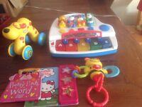 Assortment of toys/books