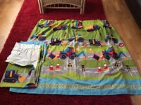 Boys tractor and digger curtains