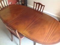 Vintage G Plan 'Garrick' Extending Mahogany Dining Table & 4 Chairs